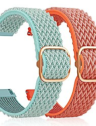 cheap -band compatible with samsung galaxy watch active 2 band 40m samsung active 2 watch bands 44mm adjustable stretchy breathable 20mm nylon watch band (watermelon red + marine green)
