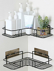 cheap -Bathroom Shelf Shower Shampoo Soap Organizer Triangle Cosmetic Punch Free Adhesive Wall Mounts Storage Rack for Kitchen Toilet
