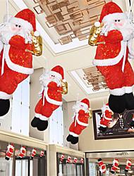 cheap -Merry Christmas 30/40/50cm Santa Claus Climbing Rope Doll Pendant Christmas Tree Ornament Xmas Decorations New Year's Ornament
