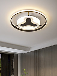 cheap -Circular Ceiling Light Bedroom Living Room Balcony Acrylic Ceiling Lamp LED Luxury Gold Bedroom
