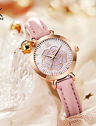 cheap -Shengke Women Watch Brand New White Leather Watches Elegant Colorful Follow Dial Japan Movement Quartz Watch Montre Femme