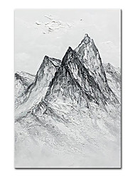 cheap -Oil Painting Handmade Hand Painted Wall Art Mintura Abstract Alpine Landscape For Home Decoration Decor Rolled Canvas No Frame Unstretched