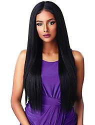 cheap -Wig Female New Style European And American Wig Female Wig Multicolor Medium Long Straight Hair Chemical Fiber Headgear