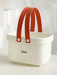 cheap -Silicone Bath Basket Portable Bath Bathroom Storage Plastic