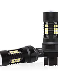 cheap -10pcs 4pcs 2pcs 5 W LED Corn Lights 500 lm 7443 21 LED Beads SMD 3030 White Red Yellow 12-24 V
