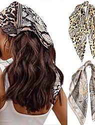 cheap -5 Pcs/set Square Silk Scarf Women Headband Fashion Print Neck Scarfs Office Hair Band Hand Kerchief Female Bandana