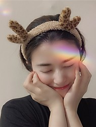 cheap -6 Piece Headdress Cute Antlers Headband Lamb Hair Wash Hairband Christmas Ins Autumn And Winter Plush Hair Accessories Women