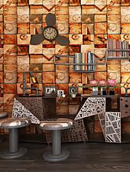 cheap -Wallpaper Wall Covering Sticker Film Faux 3D Faux Wood  Vinyl PVC Home Decor 53*1000cm