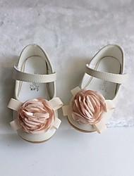 cheap -Girls' Flats Flower Girl Shoes Microfiber Little Kids(4-7ys) Wedding Daily Flower Pink Ivory Fall Spring