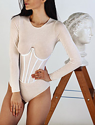 cheap -5PCS Women Shapewear Corsets Body Shapes Girdles Mercerized Fabric Waist Cleavage Tops Body Shaper Slimming Waist Bands Corsets