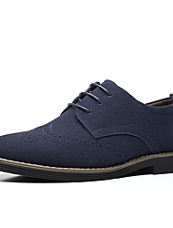 cheap -Men's Oxfords Suede Shoes Comfort Shoes Light Soles Business Outdoor Office & Career Faux Leather Blue Black Brown Fall Spring / Round Toe / EU40
