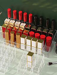 cheap -Transparent Lipstick Storage Rack Finishing Box Plastic Desktop Lipstick Rack Cosmetic Storage Box