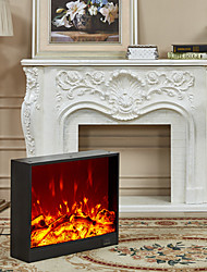 cheap -Electric Fireplace Heater Stove Freestanding Fireplace Heater with Realistic Flame Indoor Electric Heater Thermostat Overheating Safety System Steel Wall Light 220-240V 1520 W