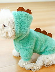 cheap -Dog Cat Hoodie Sweatshirt Solid Colored Animal Dailywear Casual / Daily Winter Dog Clothes Puppy Clothes Dog Outfits Green Costume for Girl and Boy Dog Polyester XS S M L XL