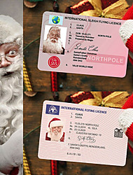 cheap -5pcs Creative Santa Claus Flight License Christmas Eve Driving Licence Christmas Gifts For Children Kids Christmas Tree Decoration