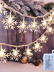 cheap -Christmas Snowflake Remote Control LED Fairy String Lights 3M 20LEDs Battery Garland Light Christmas Party Garden Holiday Outdoor Decoration Lamp
