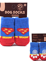 cheap -Dog Socks Christmas And New Year Pet Socks Dog Cat Socks For Indoor And Outdoor Use Dog Clothes Dog Outfits Warm Costume For Girl And Boy Dog