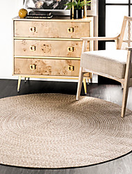 cheap -Round Area Rugs Hand Made Polyster Non Skid Modern Geometic