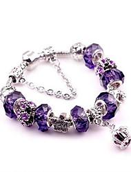 cheap -Women's Bead Bracelet Vintage Style Crown Sweet Alloy Bracelet Jewelry Red / Amethyst For Wedding Prom Promise