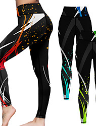 cheap -21Grams Women's High Waist Yoga Pants Cropped Leggings Tummy Control Butt Lift Red Blue Green Yoga Fitness Gym Workout Summer Sports Activewear High Elasticity / Athletic / Athleisure