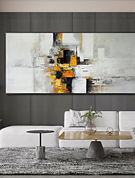 cheap -Original Painting on Canvas Handmade Hand Painted Wall Art Stretched Frame Ready to Hang Large Abstract  Flow Color Acrylic Painting Living Room Wall Art Decor