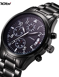 cheap -SINOBI Fashion Pilot Men's Chronograph Wrist Watch Waterproof Luxury Brand Men Watch Diver Males Geneva Quartz ClockSINOBI Fashion Pilot Men's Chronograph Wrist Watch Waterproof Luxury Brand Men Wat