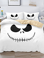 cheap -Halloween Christmas Decor 3-Piece Duvet Cover Set Hotel Bedding Sets Comforter Cover with Soft Lightweight Microfiber, Include 1 Duvet Cover, 2 Pillowcases for Double/Queen/King(1 Pillowcase for Twin/Single)