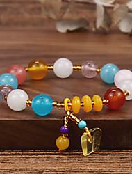 cheap -Women's Onyx Chain Bracelet Bead Bracelet Vintage Bracelet Classic Faith Elegant Fashion Punk Korean Sweet Stone Bracelet Jewelry Multi Color For Party Street Gift Daily Festival