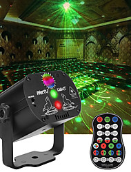 cheap -Party Laser Lights with 3 Lens LED Projector Stage Light by Sound Activated Remote Control for  Christmas DJ Disco  Stage  Halloween Decorations Gift Party Lights Strobe Lighting