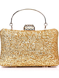 cheap -Women's Bags Polyester Evening Bag Sequin Chain Solid Color Party / Evening Daily Retro Evening Bag Chain Bag Blue Blushing Pink Gold Black