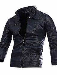 cheap -men's motorcycle leather jacket (l)