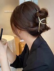 cheap -3 Pcs/set Metal Hair Claw Gold Silver Geometric Hair Clips For Women Girl Elegant Crab Vintage Hairpin Hair Accessories