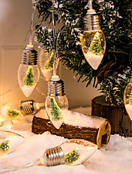 cheap -Christmas Fairy Lights 2M 10LEDs Bulb Wishing Bottle Shaped Fairy String Light Battery Powered Christmas Party Garden Holiday Home Decoration