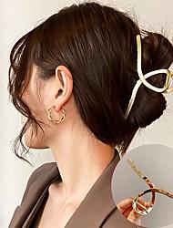 cheap -Women Elegant Gold Silver Hollow Geometric Metal Hair Claw Vintage Hair Clips Headband Hairpin Fashion Hair Accessories
