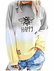 cheap -women long sleeve tops workout be kind tshirt women short sleeve t-shirt bee graphic tee long sleeve pocket shirt casual tops yellow