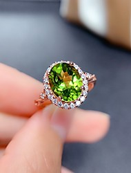 cheap -Ring Mismatched Green Copper Silver Plated Artistic Fashion Punk 1pc Adjustable / Women's / Open Cuff Ring / Open Ring / Adjustable Ring