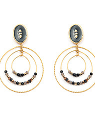 cheap -Women's Natural Stone Drop Earrings Earrings Layered Galaxy Baroque Rock Sweet Stainless Steel Earrings Jewelry Gold / White / Black For Carnival Prom Work 1 Pair