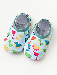 cheap -Boys and Girls Flats Toddler Shoes Baby Shoes Sports & Outdoors Cotton Non-slipping For Indoor Outdoor Use Toddler(2-4ys) Daily Festival Walking Shoes Indoor Animal Print Pink Green Rainbow Fall