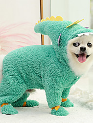 cheap -Dog Cat Jumpsuit Pajamas Solid Colored Animal Adorable Cute Indoor Casual / Daily Winter Dog Clothes Puppy Clothes Dog Outfits Breathable Light Blue Costume for Girl and Boy Dog Plush XS S M L XL