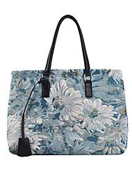 cheap -Women's Bags PU Leather Tote Crossbody Bag Top Handle Bag Tassel Zipper Geometric Vintage Daily Outdoor Retro Leather Bag Handbags Blue Brown