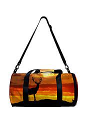 cheap -Unisex Bags Polyester Duffle Bag Zipper Daily Outdoor 3D Print Orange