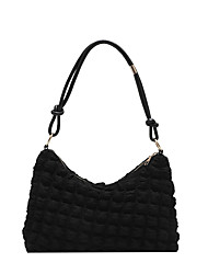 cheap -Women's Bags Polyester Tote Zipper Going out Office & Career Retro White Black