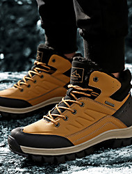 cheap -Men's Trainers Athletic Shoes Sporty British Party & Evening Office & Career Walking Shoes Faux Leather Booties / Ankle Boots Yellow Blue Black Fall Winter