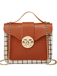 cheap -Women's Bags PU Leather Crossbody Bag Top Handle Bag Chain Quilted Daily Date Retro Chain Bag Blushing Pink Black Brown
