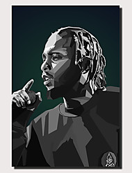 cheap -1 Panel Wall Art Canvas Prints Painting Artwork Picture Kendrick Lamar Rapper Musicain Painting Home Decoration Decor Rolled Canvas No Frame Unframed Unstretched