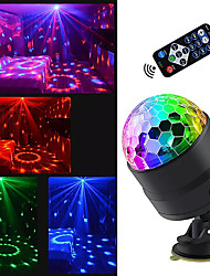 cheap -Sound Activated Rotating Disco Ball Party Lights Strobe Light USB LED Stage Lights For Christmas Home KTV Xmas Wedding Show