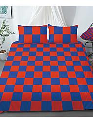 cheap -Print Home Bedding Duvet Cover Sets Soft Microfiber For Kids Teens Adults Bedroom Plaid 1 Duvet Cover 1/2 Pillowcase Shams