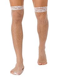 cheap -Sexy Men's Socks Lace Sexy Stockings Socks Thin Casual Purple 1 Pair