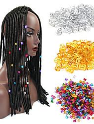 cheap -20Pcs/bag Mix Silver Golden Plated Hair Braid Dread Dreadlock Beads Adjustable Cuff Clip 8mm Clip Metal Tube Lock