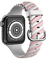 cheap -compatible with apple watch band 38mm 40mm for men and women, soft silicone replacement sport strap for iwatch series 7 6 5 4 3 2 1 se (pink white, 38/40mm)